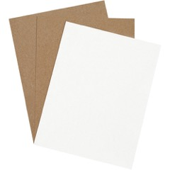 "8 1/2 x 11"" White Chipboard Pads"