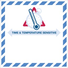 "4 1/4 x 4 1/4"" - ""Time And Temperature Sensitive"" Label"