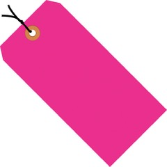 13 Pt. Shipping Tags - Fluorescent<br/>Pre-Strung