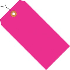 13 Pt. Shipping Tags - Fluorescent<br/>Pre-Wired