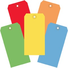 13 Pt. Shipping Tags - Assorted<br/>Color Packs
