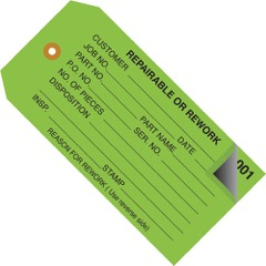 Inspection Tags 2 Part Numbered 000 - 499