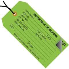 Inspection Tags 2 Part - Numbered 000-499 - Pre-Strung