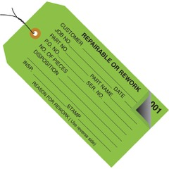 Inspection Tags 2 Part - Numbered 000-499 - Pre-Wired