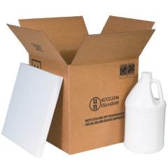Haz Mat Plastic Jug Foam Shipper Kits