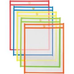 """9 x 12""""  Neon Job Ticket Holders - Assortment Pack"""
