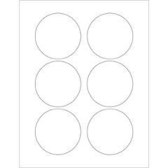 White Circle Laser Labels