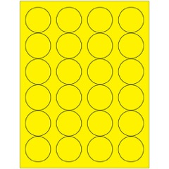 Fluorescent Circle Laser Labels