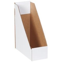 """9 1/4"""" x 4"""" x 12"""" White Magazine File Boxes"""