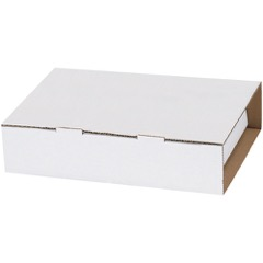 "8 1/2 x 7 5/8 x 2 1/16"" White Video Tape Mailers"