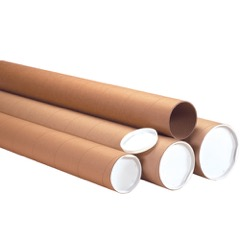 "Heavy-Duty Kraft Tubes - 4"" Inside Diameter"