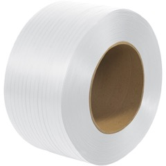 """9 x 8"""" Core Machine Grade Poly Strapping - Embossed"""