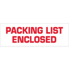 Tape Logic® Pre-Printed - Packing List Enclosed