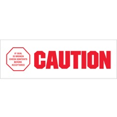 Tape Logic® Pre-Printed - Caution - If Seal is Broken