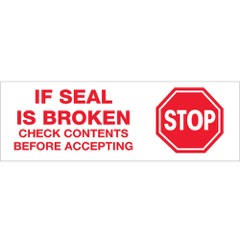 Tape Logic® Pre-Printed - Stop if Seal is Broken