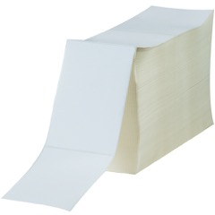 """4 x 6"""" White Fanfold Thermal Transfer Labels"""