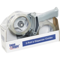 "Tape Logic® 2"" x 55 Clear 2-Roll Dispenser Combo"