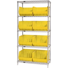 Wire Shelves with Bins