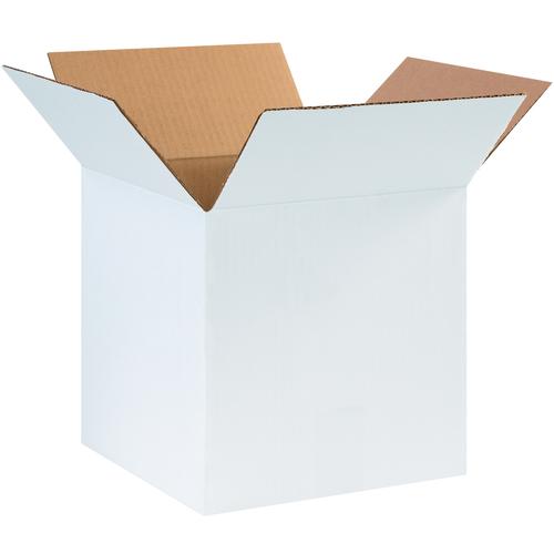 "10 x 10 x 10"" White Corrugated Boxes"
